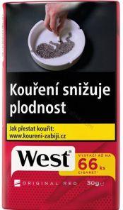 Tabak WEST 30g RED TT  157.-  *120